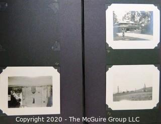 1920's Family Photo Album with Black & White Pictures of Travel from Buenes Aires to California.