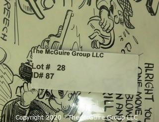 Two Vintage Signed Cartoon Board from Al Banks. Featured in Parade Magazine.