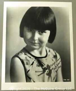 Signed Black & White Photograph of Mary Ann Jackson, an American child actress who appeared in the Our Gang Television Series from 1928 to 1931.