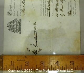 Antique Shipping Transportation Ephemera from 1864, Bill of Lading, Quebec