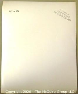 1975 Black & White Photo of Katharine Graham, publisher of the Washington Post, post-Watergate by Doug Chevalier.