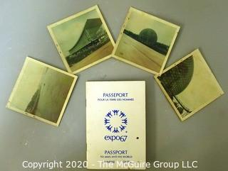 Set of 4 Polaroid Photos from the 1967 Canadian Expo 67 with Expo Passport.