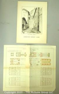 Ship Ephemera including 1938 menu of steamship and America Line Ship Plan or Map.