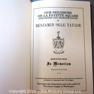 Reprint of Book by Benjamin O Taylor