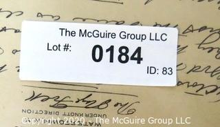 Collectible: Paper: 1926: handwritten poems on hotel letterhead: by Arnold (??????)
