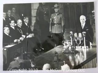 Photograph: Historical: 1947: President Truman addresses Canadian Parliament (source photographer unknown)