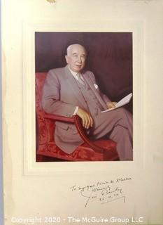 Signed Color Photography of Jim Barclay, a New Zealand politician of the Labour Party who served as Prime Minister from 1935 - 1943.
