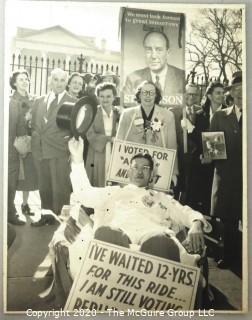 Black & White Vintage Campaign Photograph.