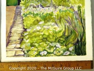 Art: Watercolor: unaccredited: Garden scene