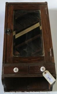 Antique Mirrored Wall Shelf or Cabinet.