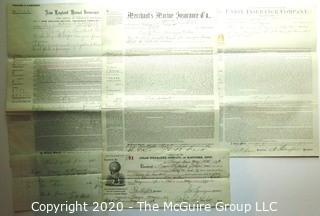 Collectible: Ephemera: 1876: Hartford Insurance policy