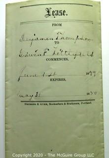 Collectible: Ephemera: 1877: Indenture paper