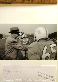 Photo: Historical: College Football: Coach John Micheloson of the Pitt Panthers  from Oct 1956 story in Look Magazine.