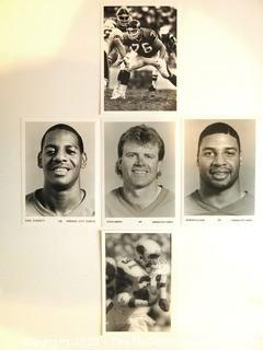 Collection of Five Football Photos and Headshots.