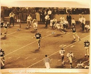 Photo: Historical: Football: College: 1967: Notre Dame vs Miami - late game scoring drive by Miami