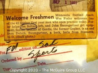 Photo: Historical: Football: College: 1951 : Minnesota players