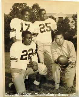Photo: Historical: Football: College: 1950: Lincoln Co (MO) - Coach Dwight T Reed and players