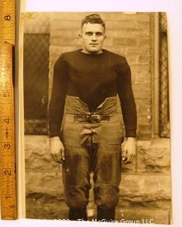 Photo: Historical: College Football: Univ of Minn: 1919: repurposed vintage photo of Arnold Oss Sr for his obituary in 1979