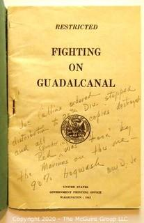 Book: Historical: Military: WWII: Fighting on Guadalcanal (restricted): with personal annotations see all photos