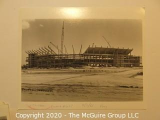 """1987 Photo Series of the Construction of Dolphin """"Joe Robbie"""" Stadium from Ground Breaking to Completion, Multiple Photographers."""