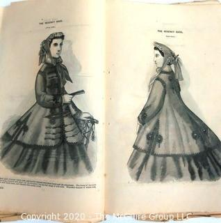 1865 Godey's Lady's Book, an American women's magazine.