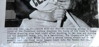 Photo: Historical: Baseball: 1956: Cleveland Indians - Pitcher Herb Score