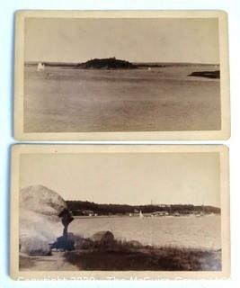 Set of Two Black and White Photos of Onset Beach, Massachusetts.