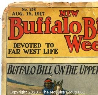 Antique 1917 Edition of New Buffalo Bill Weekly Book.