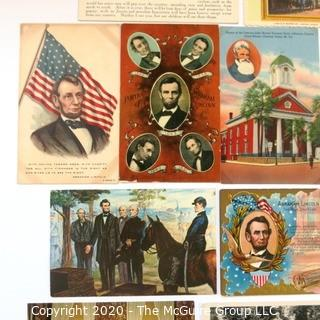 Collection of Antique Abraham Lincoln Postcards