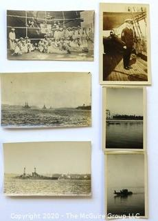 Black & White Pre WWII Photos of Crew of Identified Battleships Including the USS Arizona. See all photos