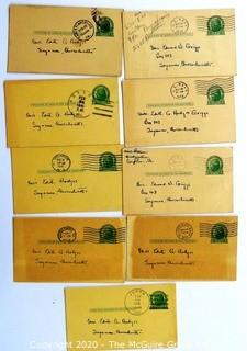 Series of Postcards from Serviceman to His Wife During WWII, 1941 - 1943 from Various Cities and Bases.