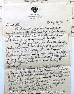 Collection of 1946 Love Letters From West Point Cadet W. A. Pogue to Elle Lou Huser.