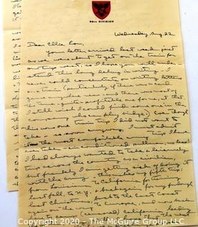 Collectible: Paper: Personal Letters: WWII Philippines:  194?: PFC David Wilson (343th Inf) to Elle Lou Huser (period stamp cancellations)