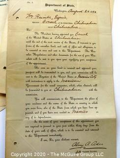 Collectible: Ephemera: 1890's : Signature Alvey Adee: