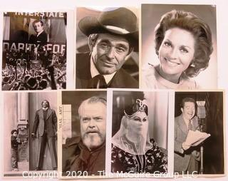 Collection of Black & White Movie and Television Promotional Stills From Various Television Stations.