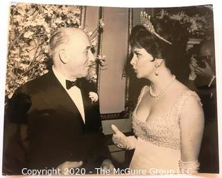 Photo: Historical: Jean Monnet & Gina Lollabridiga