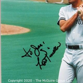 Signed Color Photo of Lou Pinella; New York Yankee player and manager