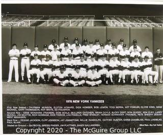 Two Black & White Baseball Photos of the 1978 and 1979 NY Yankees Team Photos