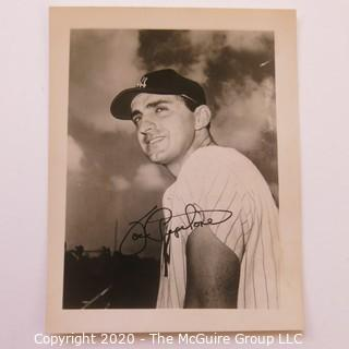 Set of Two Autographed Basseball photos of Joe Pepitone and Billy Martin