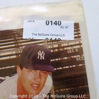 Color Autographed photo of Bob Tewksbury NY Yankee Baseball