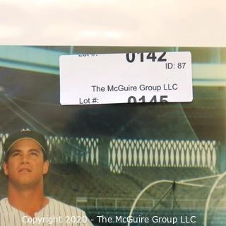 Color Autographed photo of NY Yankee Baseball Player Dan Pasqua