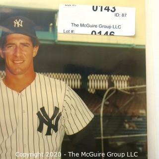 Color Autographed photo of NY Yankee Baseball Player Michael Pagliarulo