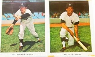 Two Color Autographed photos of NY Yankee Baseball Players - Fritz Peterson and Roy White