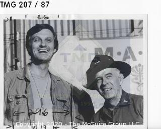 Photo: Print: Press Release: Vintage TV: Alan Alda MASH Henry Morgan