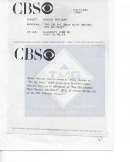 Photo: Print: Press Release: Vintage TV Show: Robert Mitchum