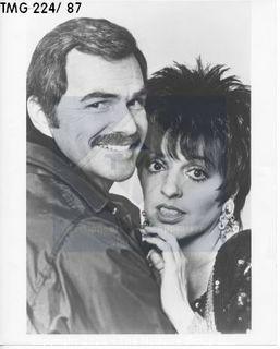 Photo: Print: Press Release: Movie Star: Liza Minnelli and Burt Reynolds 1987