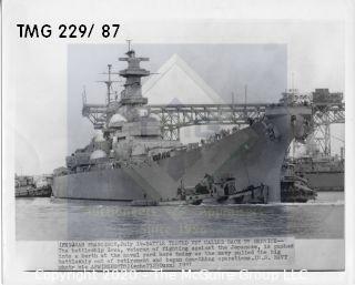 Photo: Historical: USS Iowa 1951