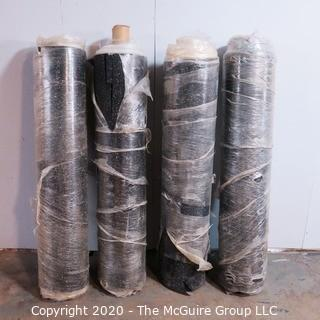 Lot of (4) Four Rolls of Rubber Floor Underlayment with vapor barrier; 3mm thick; each roll 250 square ft.