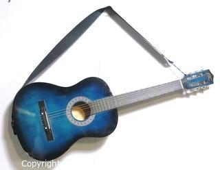 Vintage Blue Six String Guitar
