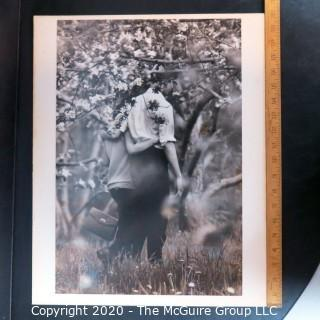 Large Format Black & White Photo Mounted on Board by A Rickerby.